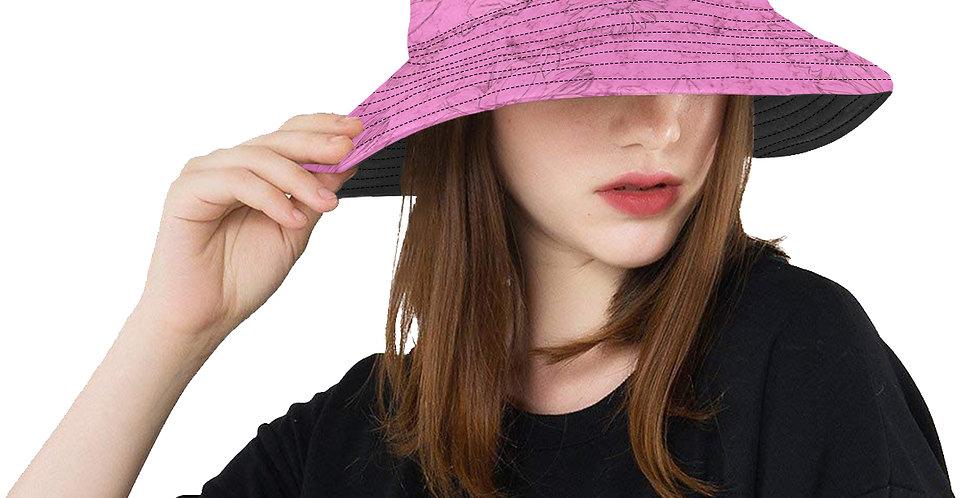Embossed Floral Soft Pink - Bucket Hat