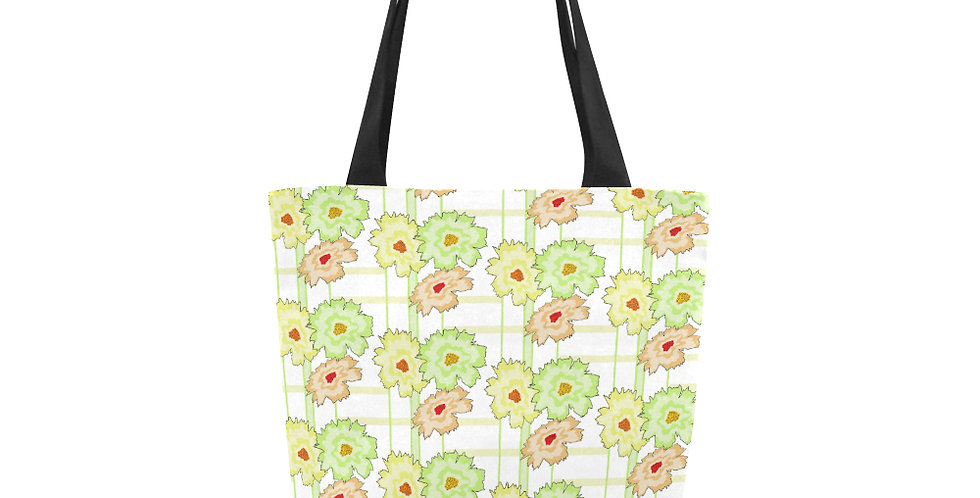 Floral Frenzy Peach/Mint - Tote Bag
