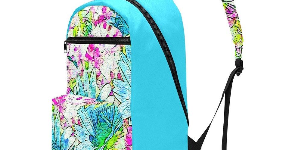 Dancing Daisies Blue - Travel Backpack (Large Capacity)