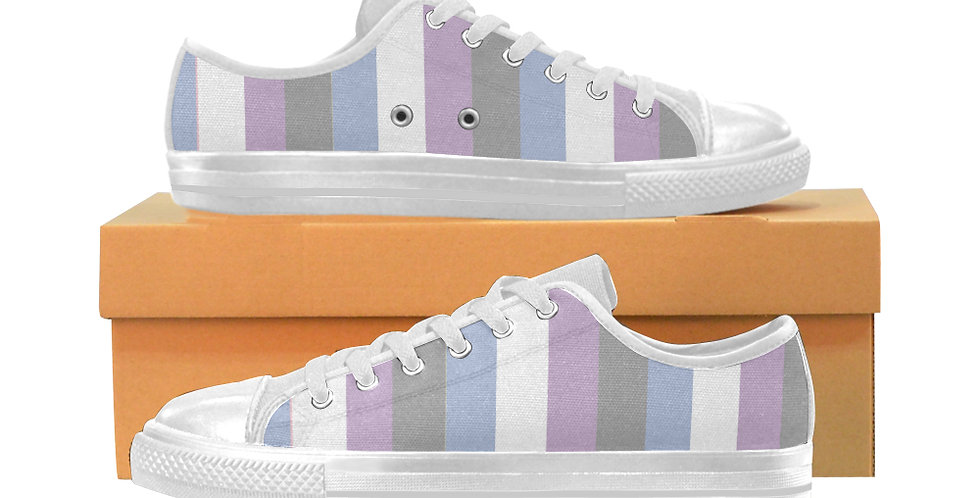 Gentle Stripes - Women's Canvas Sneakers
