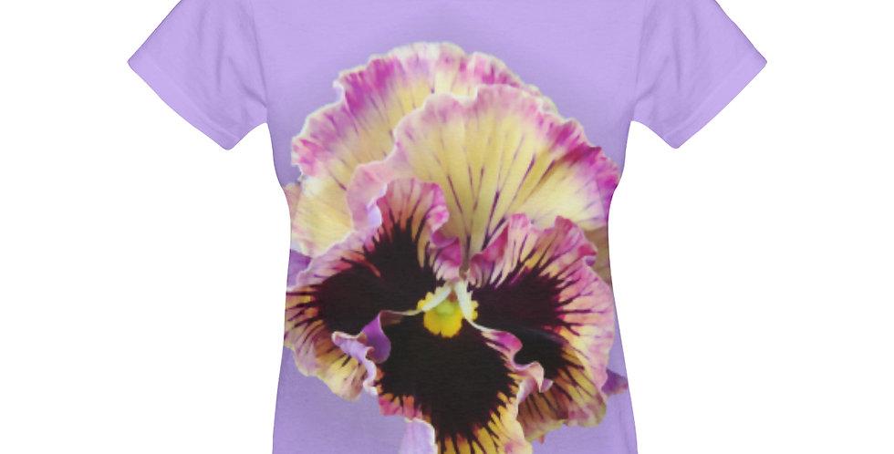 Ruffled Pansy - T-shirt