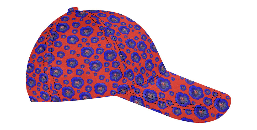 Flower Power Red/Blue - Baseball Cap