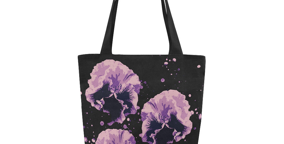 Pansy Moonbeams Pink / Mauve - Tote Bag