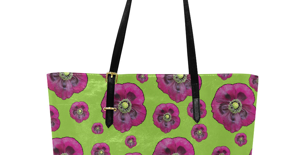 Purple Poppies - Large Tote Bag