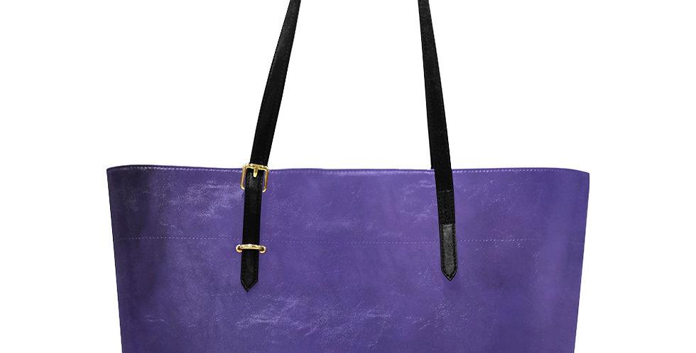 Rainbow Iris Washed Purple - Large Tote Bag