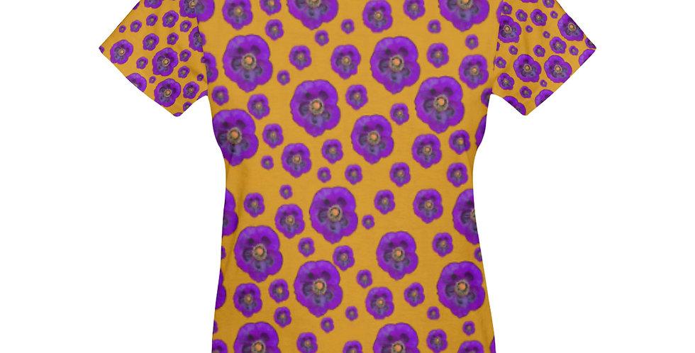 Poppies Orange/Purple - T-shirt