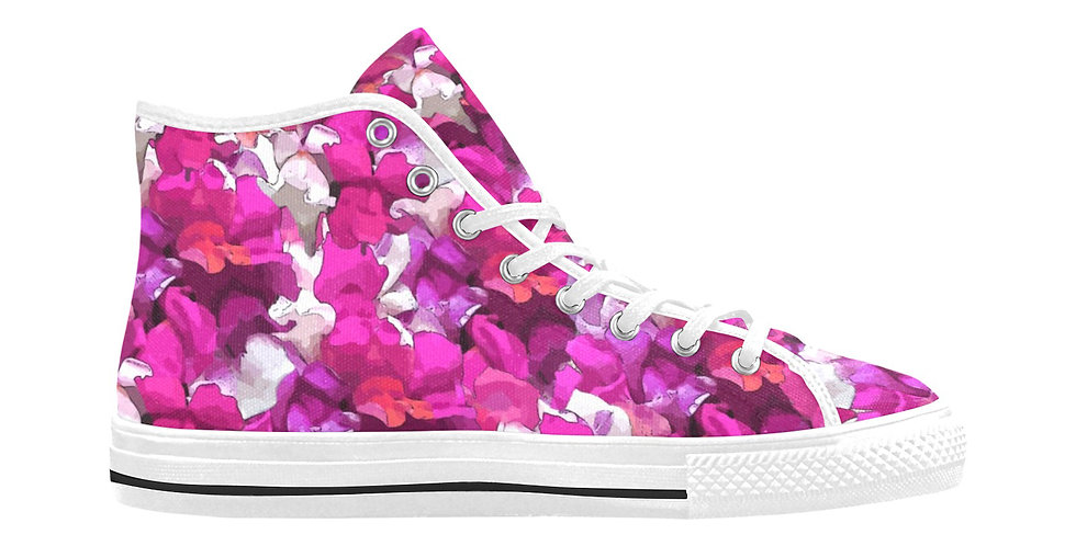 Snappy Pink/Purple - Women's High Top Canvas Sneakers