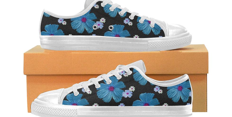 Cosmos Choas Blue - Women's Canvas Sneakers