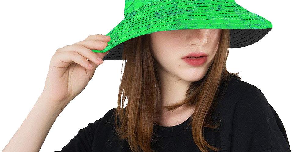 Embossed Floral Green - Bucket Hat