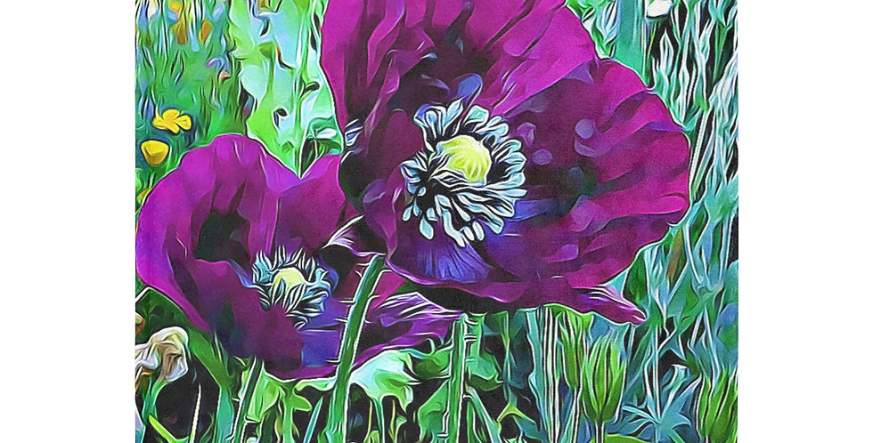 Meadow Poppies Purple - Blanket