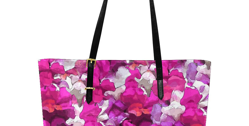 Snappy Purple - Large Tote Bag