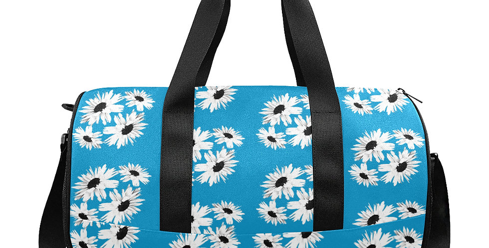 Bunch of Daisies Blue - Gym / Workout / Camping / Travel Duffel Bag