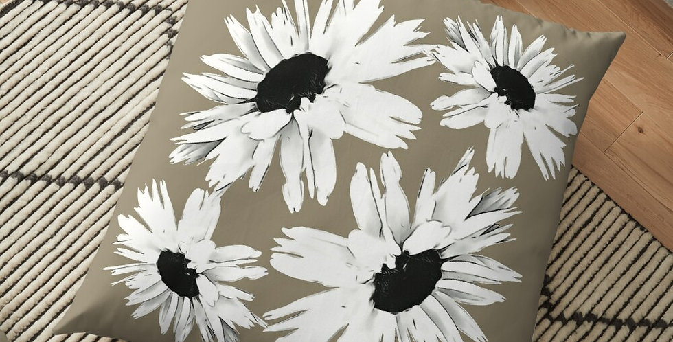 Daisy Love Beige - Cushion Cover