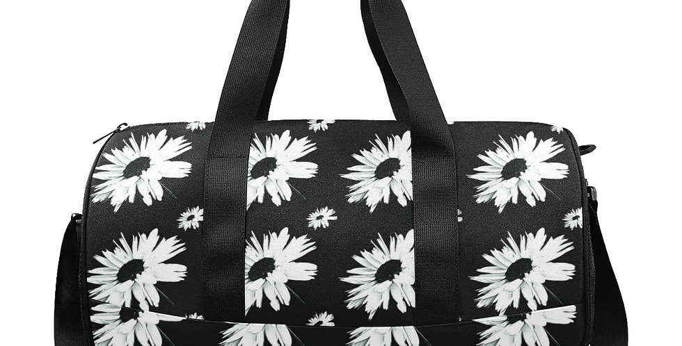 Daisy Love Black - Gym / Workout / Camping / Travel Duffel Bag