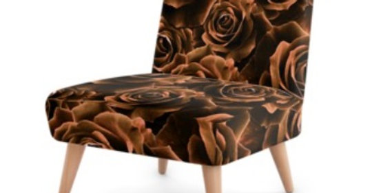 Velvet Roses Chocolate - Occasional Chair