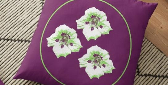 Purple Nasturtium - Cushion Cover