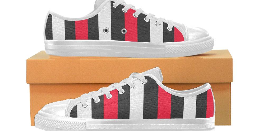 Bold Stripes - Women's Canvas Sneakers
