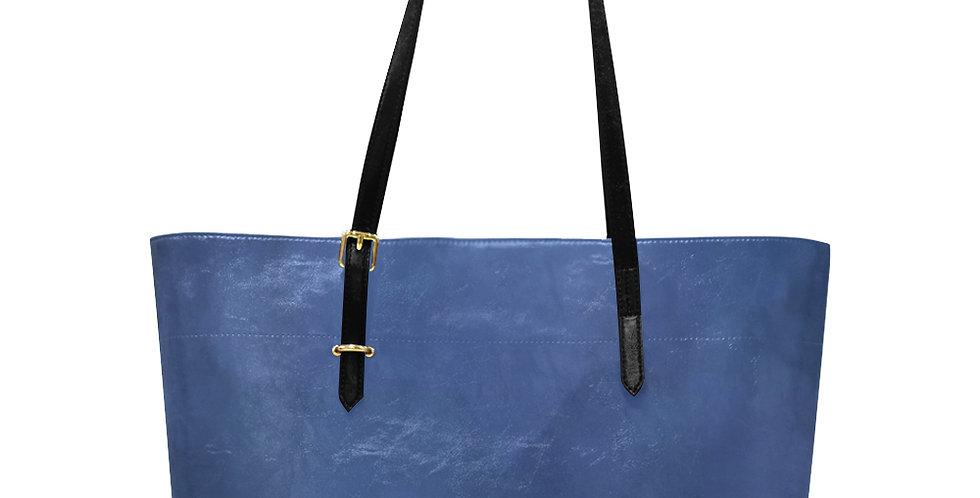 Rainbow Iris Washed Blue - Large Tote Bag