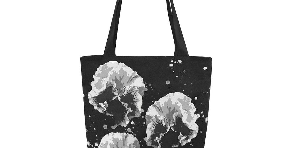 Pansy Moonbeams Grey - Tote Bag