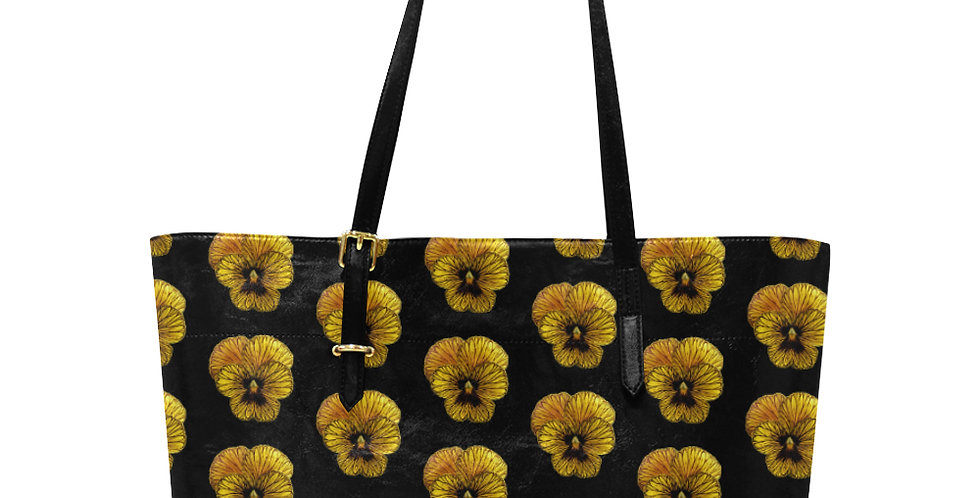 Tiger Pansy - Large Tote Bag