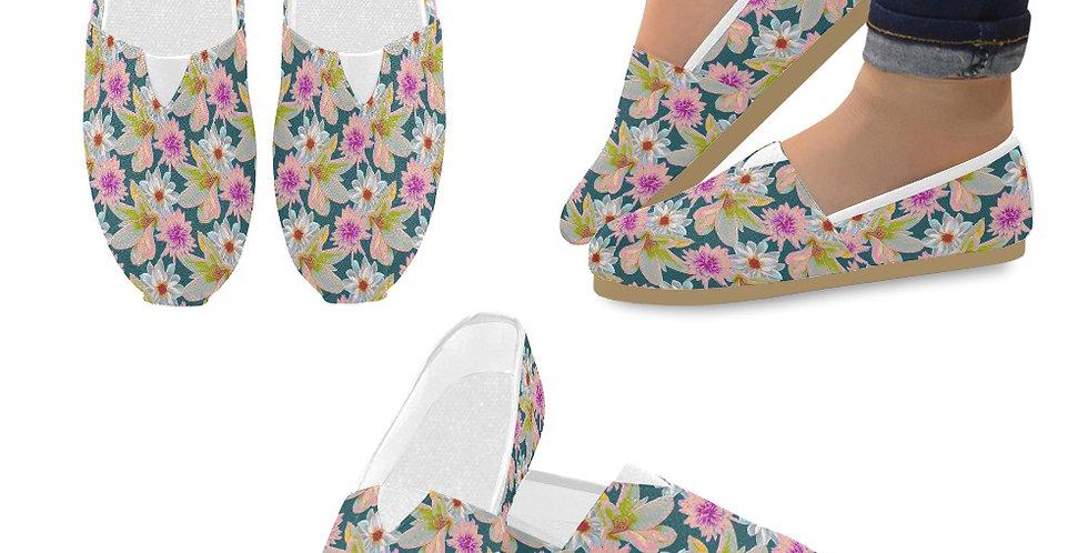 Vintage Floral - Slip On Canvas Shoes