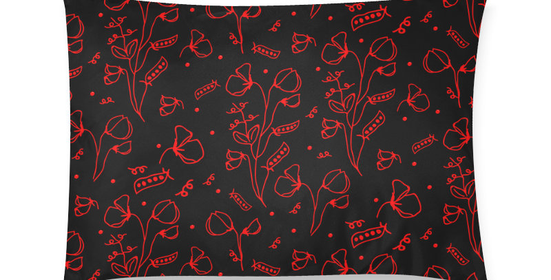 #sweetpealust black/red - Cushion Cover