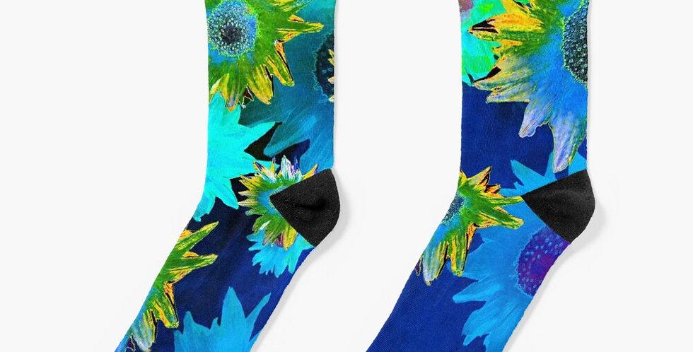 Strawflower Sizzle Blue - Socks