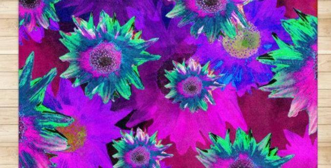Strawflower Sizzle - Purple - Rug & Runner