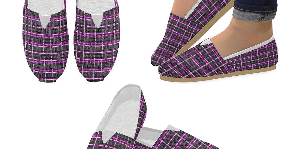 Mrs Rees Tartan - Slip On Canvas Shoes