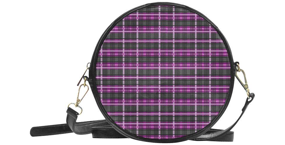 Mrs Rees Tartan - Round Messenger Bag