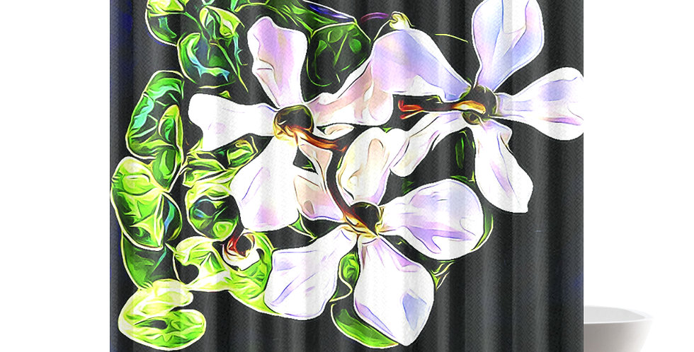 Cyclamen Swirl - Shower Curtain
