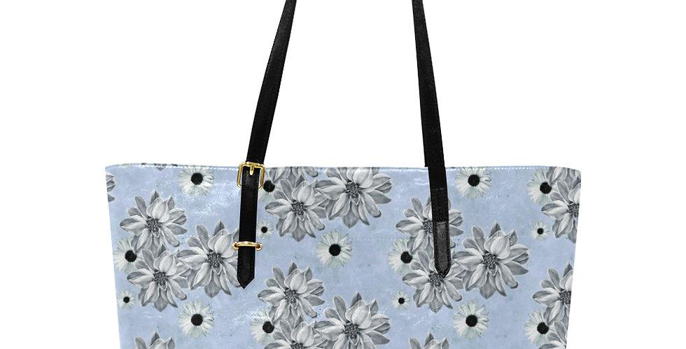 Floral Blue - Large Tote Bag