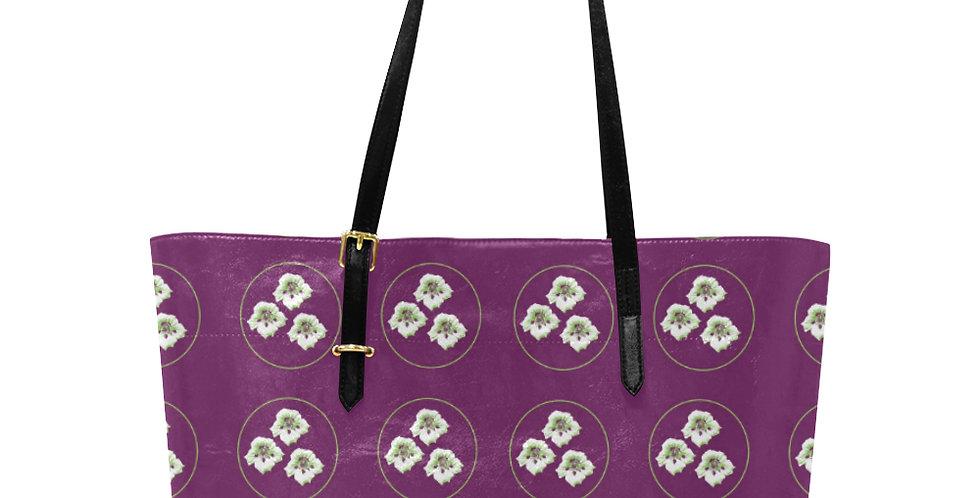Purple Nasturtium - Large Tote Bag