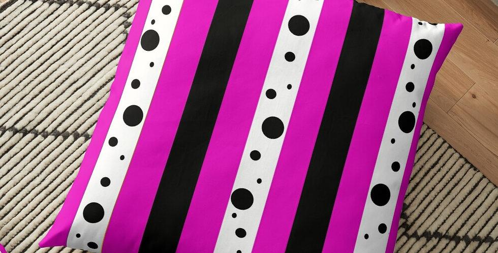 Sweet Pea Passion Stripes - Cushion Cover
