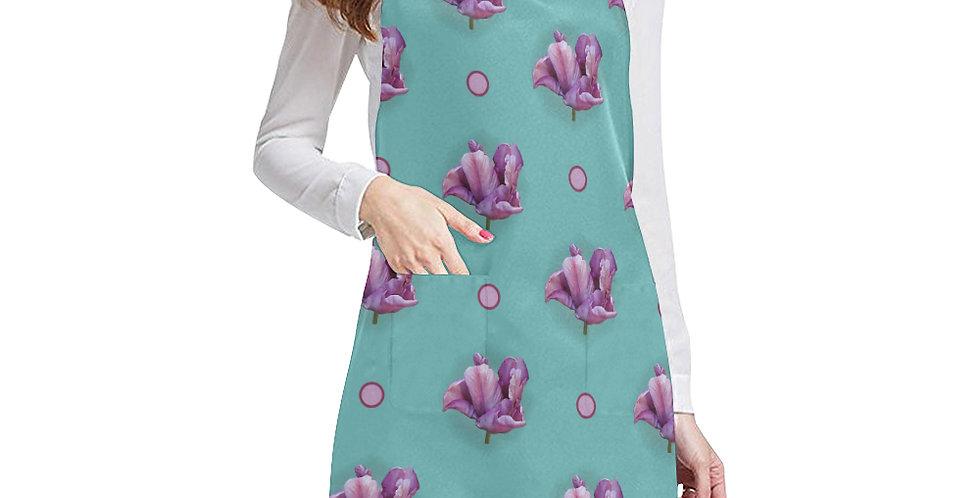 Blue Parrot Tulip Apron - Adjustable