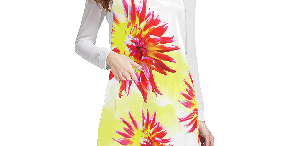 Dahlia Fireworks Apron - Adjustable