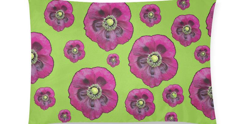 Purple Poppies - Cushion Cover