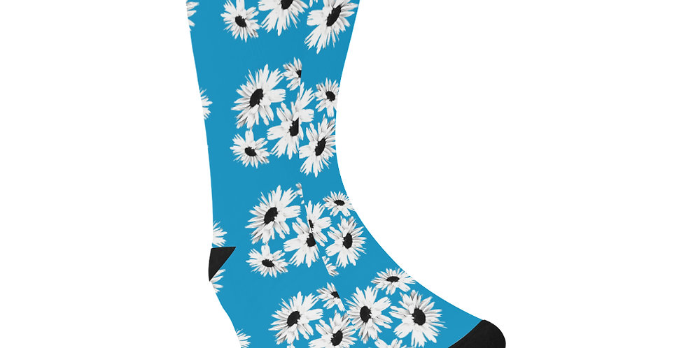 Bunch of Daisies Blue -  Unisex Socks (Made in Australia)