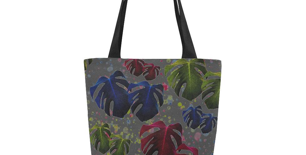 Monstera Leaves Glow - Tote Bag