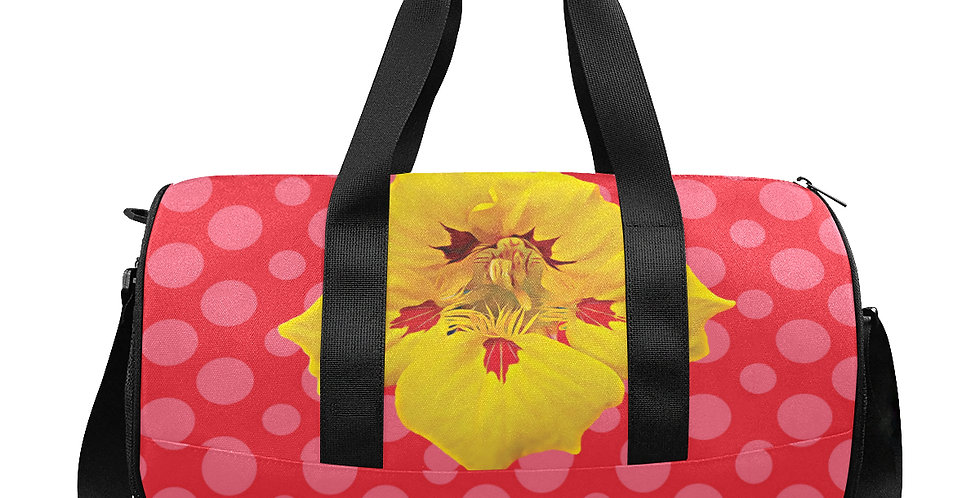 Ladybug Nasturtium - Gym / Workout / Camping / Travel Duffel Bag