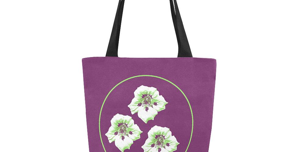 Purple Nasturtium - Tote Bag