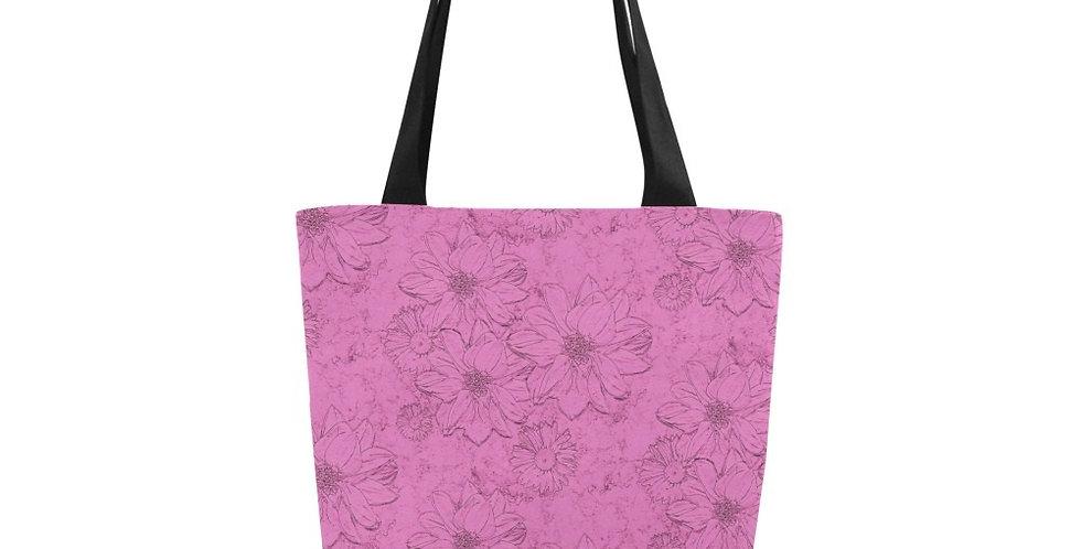 Embossed Floral Pink - Tote Bag
