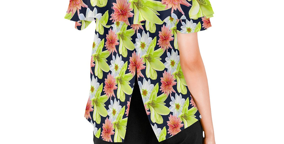Magnolia Butterflies - Women's Chiffon Blouse
