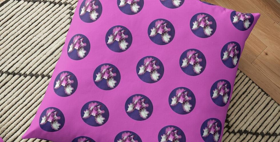 Rainbow Iris - Purple Circle (small print) - Cushion Cover