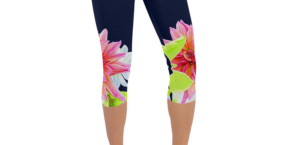 Magnolia Butterflies Boarder - Leggings 3/4