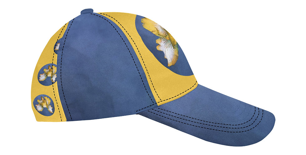 Rainbow Iris Yellow/Blue - Baseball Cap