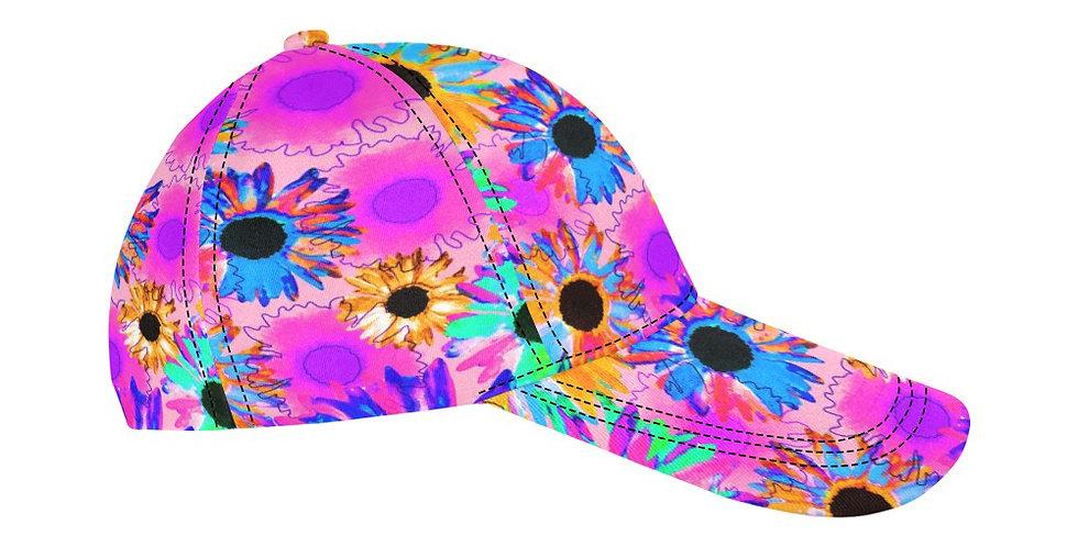 Wildflower Floral - Bright Pink - Baseball Cap