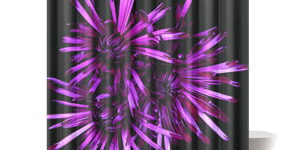 Magenta Chrysanthemums - Shower Curtain
