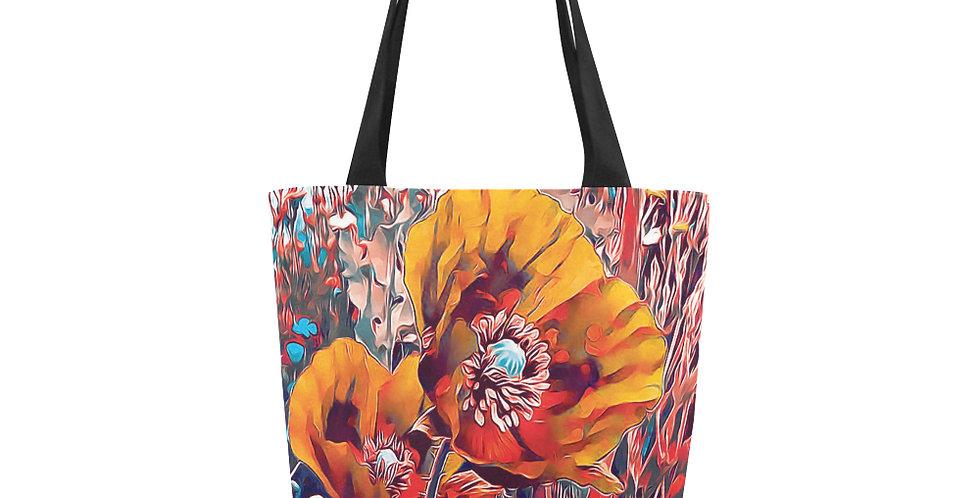 Meadow Poppies Autumn - Tote Bag