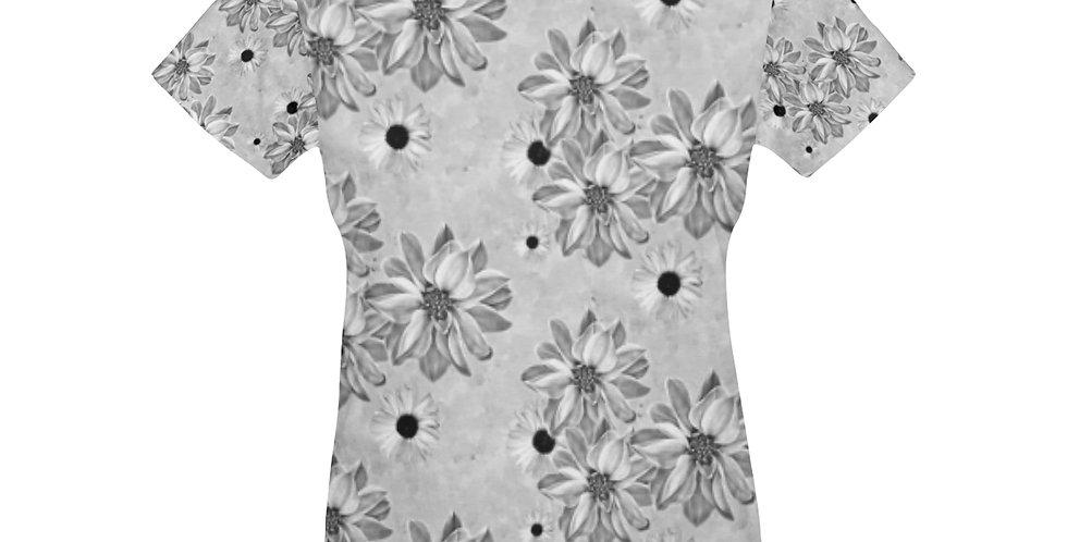 Floral Grey - T-Shirt